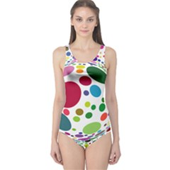 Color Ball One Piece Swimsuit