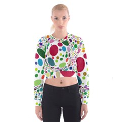 Color Ball Women s Cropped Sweatshirt