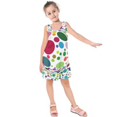 Color Ball Kids  Sleeveless Dress by Mariart