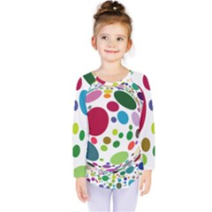 Color Ball Kids  Long Sleeve Tee by Mariart