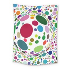 Color Ball Medium Tapestry by Mariart