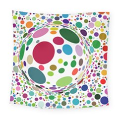 Color Ball Square Tapestry (Large)