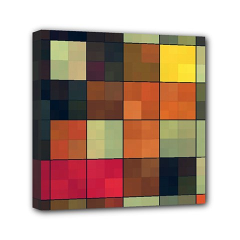 Background With Color Layered Tiling Mini Canvas 6  X 6  by Simbadda