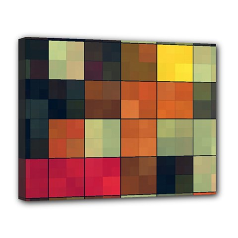 Background With Color Layered Tiling Canvas 14  X 11