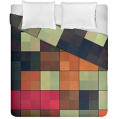 Background With Color Layered Tiling Duvet Cover Double Side (california King Size) by Simbadda