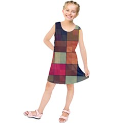 Background With Color Layered Tiling Kids  Tunic Dress by Simbadda
