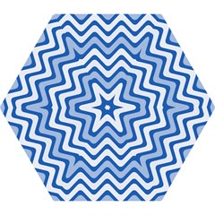 Background Of Blue Wavy Lines Mini Folding Umbrellas by Simbadda