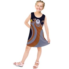 Classic Mandelbrot Dimpled Spheroids Kids  Tunic Dress by Simbadda