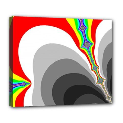 Background Image With Color Shapes Deluxe Canvas 24  X 20