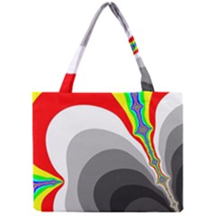 Background Image With Color Shapes Mini Tote Bag by Simbadda