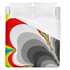 Background Image With Color Shapes Duvet Cover (queen Size) by Simbadda