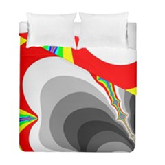 Background Image With Color Shapes Duvet Cover Double Side (full/ Double Size) by Simbadda