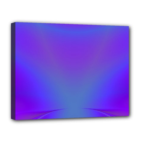 Violet Fractal Background Canvas 14  X 11  by Simbadda