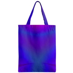 Violet Fractal Background Zipper Classic Tote Bag by Simbadda