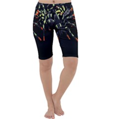 Colorful Spiders For Your Dark Halloween Projects Cropped Leggings
