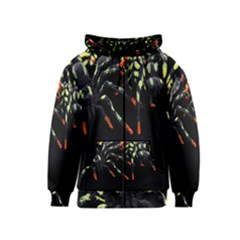 Colorful Spiders For Your Dark Halloween Projects Kids  Zipper Hoodie