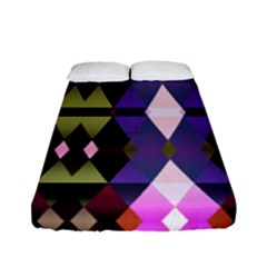 Geometric Abstract Background Art Fitted Sheet (full/ Double Size) by Simbadda