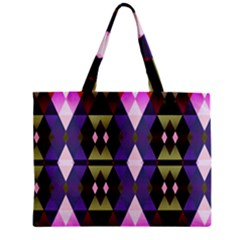 Geometric Abstract Background Art Zipper Mini Tote Bag by Simbadda