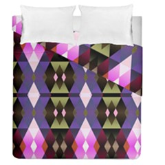 Geometric Abstract Background Art Duvet Cover Double Side (queen Size) by Simbadda