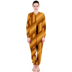 Fractal Background With Gold Pipes Onepiece Jumpsuit (ladies)