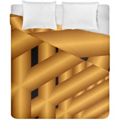 Fractal Background With Gold Pipes Duvet Cover Double Side (california King Size) by Simbadda