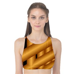 Fractal Background With Gold Pipes Tank Bikini Top
