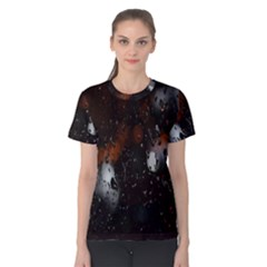 Lights And Drops While On The Road Women s Cotton Tee