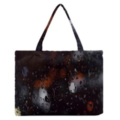 Lights And Drops While On The Road Medium Zipper Tote Bag