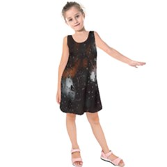 Lights And Drops While On The Road Kids  Sleeveless Dress by Simbadda