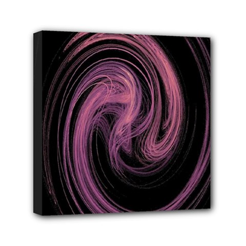 A Pink Purple Swirl Fractal And Flame Style Mini Canvas 6  X 6  by Simbadda