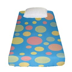 Polka Dots Fitted Sheet (single Size) by Valentinaart