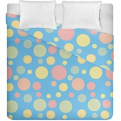 Polka Dots Duvet Cover Double Side (king Size) by Valentinaart