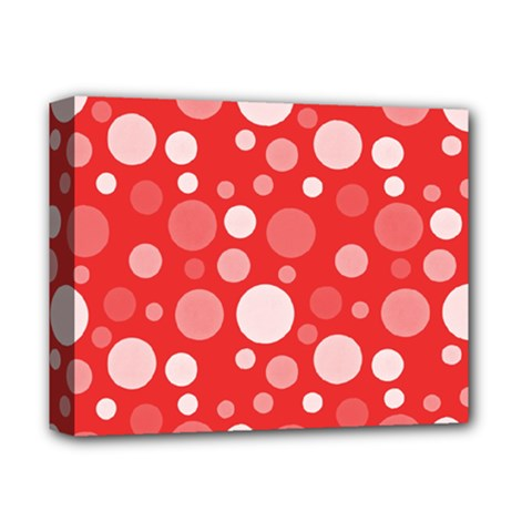 Polka Dots Deluxe Canvas 14  X 11