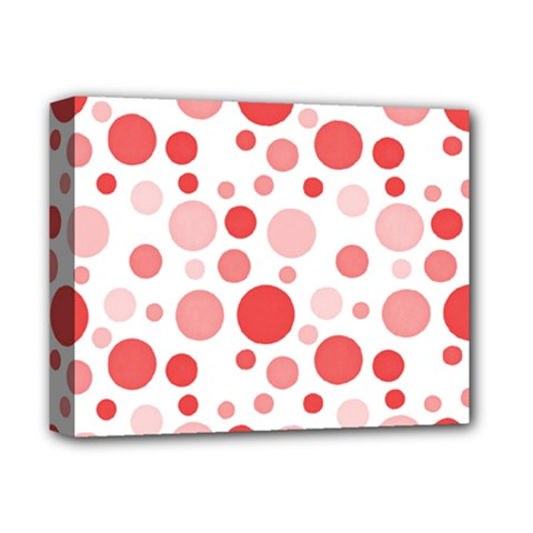 Polka Dots Deluxe Canvas 14  X 11  by Valentinaart