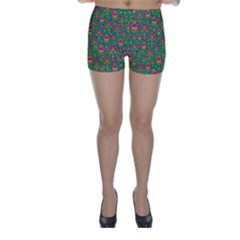 Pattern Skinny Shorts by Valentinaart