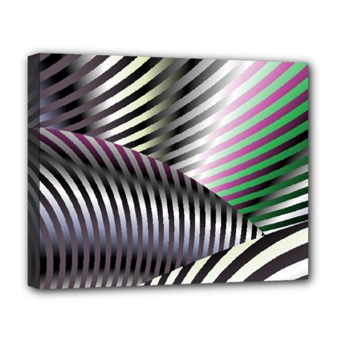 Fractal Zebra Pattern Deluxe Canvas 20  X 16   by Simbadda