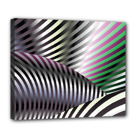 Fractal Zebra Pattern Deluxe Canvas 24  X 20   by Simbadda