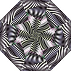 Fractal Zebra Pattern Golf Umbrellas by Simbadda