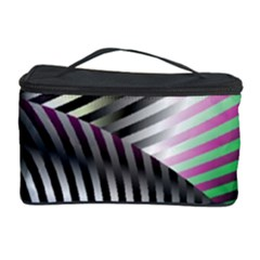 Fractal Zebra Pattern Cosmetic Storage Case by Simbadda