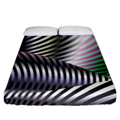 Fractal Zebra Pattern Fitted Sheet (california King Size) by Simbadda