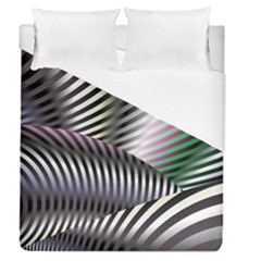 Fractal Zebra Pattern Duvet Cover (queen Size) by Simbadda