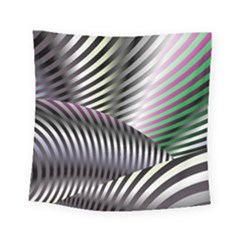 Fractal Zebra Pattern Square Tapestry (small) by Simbadda