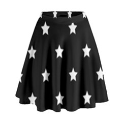 Stars Pattern High Waist Skirt