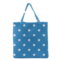 Stars Pattern Grocery Tote Bag by Valentinaart