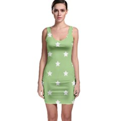 Stars Pattern Sleeveless Bodycon Dress