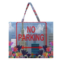No Parking  Zipper Large Tote Bag