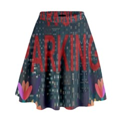 No Parking  High Waist Skirt