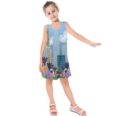 Urban Nature Kids  Sleeveless Dress by Valentinaart