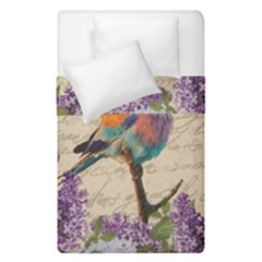 Vintage Bird And Lilac Duvet Cover Double Side (single Size) by Valentinaart