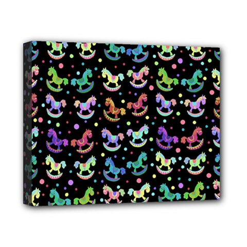 Toys pattern Canvas 10  x 8